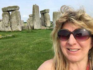Edie at Stonehenge